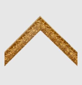 ornate gold art frame